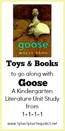 Toys and Books to go along with Goose Kindergarten Unit