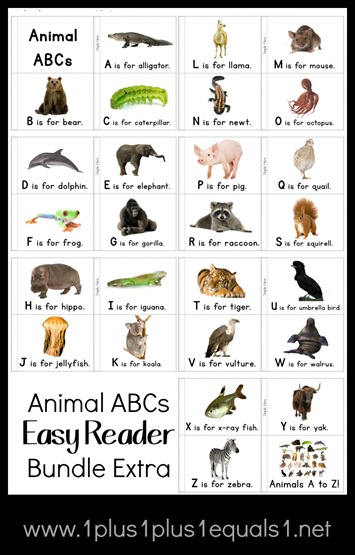 Animal ABCs Easy Reader Bundle Extra