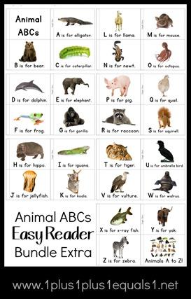 Animal ABCs Easy Reader Bundle Extra