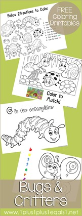 Bugs Coloring Printables