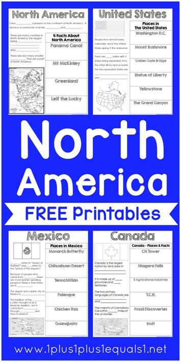 World Geography North America Printables 1 1 1 1 - Download Free Printable Kindergarten Geography Worksheets Images