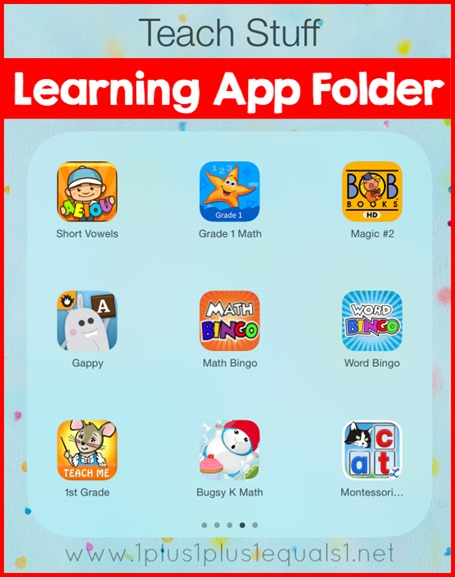 Learning App Folder on the iPad
