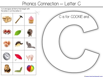 C is for Cookie Printable