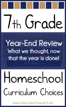 7th Grade Homeschool Curriculum Choices Year-End Review