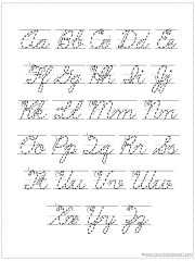 Challenger image pertaining to printable cursive chart