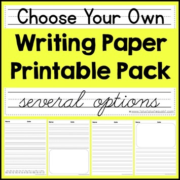 Choose your Own Writing Paper