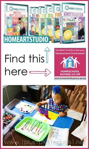 Home Art Studio on Homeschool Buyres Co-op