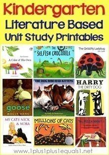 Kindergarten-Literature-Unit-Printab