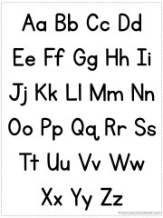 Gutsy image with regard to printable alphabet chart black and white