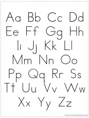 photo relating to Abc Printable Chart identified as Acquire Your Personalized Alphabet Chart Printable - 1+1+1\u003d1