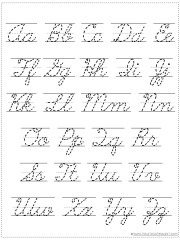 picture regarding Cursive Chart Printable called Come to a decision Your Private Alphabet Chart Printable - 1+1+1\u003d1