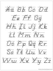 photo relating to Cursive Chart Printable referred to as Make your mind up Your Personal Alphabet Chart Printable - 1+1+1\u003d1