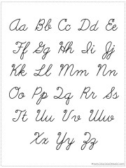 photo about Printable Cursive Chart titled Get Your Private Alphabet Chart Printable - 1+1+1\u003d1