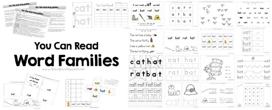 You Can Read Word Families