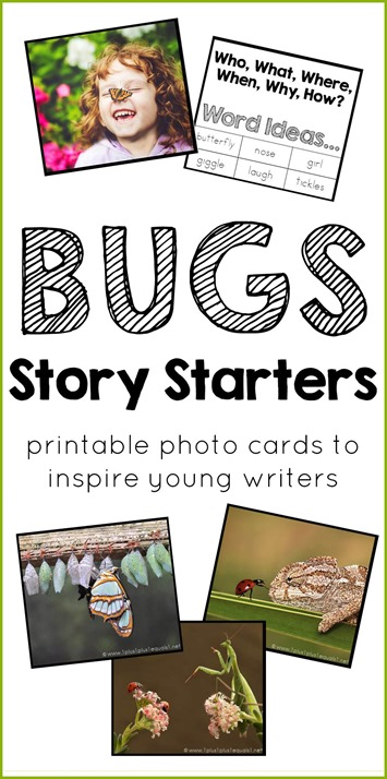 Bugs Story Starters Printable Photo Cards