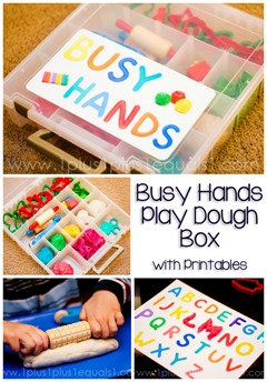 Busy Hands Play Dough Box