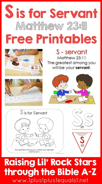 S is for Servant Printables