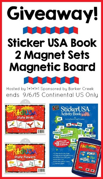 Barker Creek USA Geography Pack Giveaway ends 9.6.15