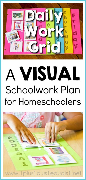 Daily Work Grid Schoolwork Plan for Homeschoolers VIDEO Tutorial included in post!