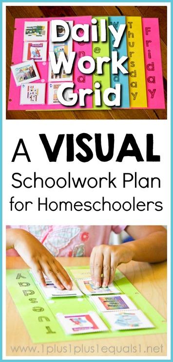 Daily Work Grid Schoolwork Plan for Homeschoolers VIDEO Tutorial included in post!