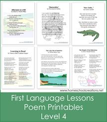 First Language Lessons 4 Poem Printables