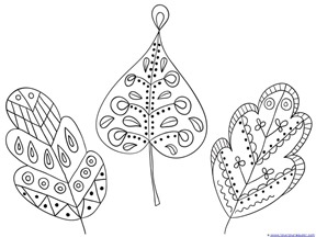 Fall Leaves and Trees Coloring  (19)