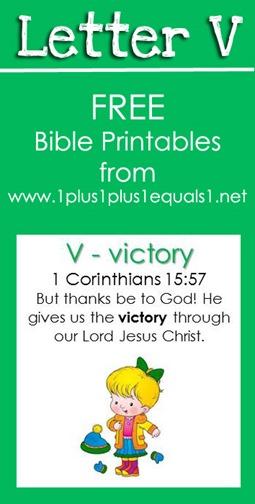 RLRS Letter V 1 Corinthians 15 Bible Verse Printables