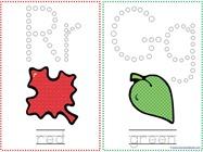 Fall Leaf Q Tip Painting Printables