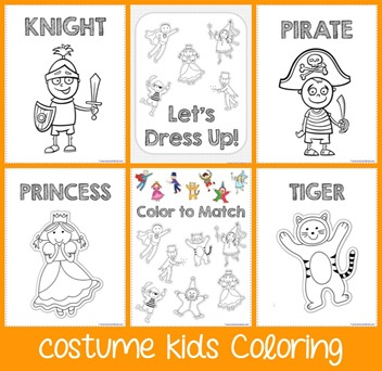 Costume Kids Coloring Pages