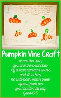 John 155 Pumpkin Vine Craft