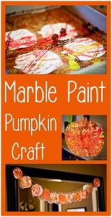 Marble Paint Pumpkin Craft