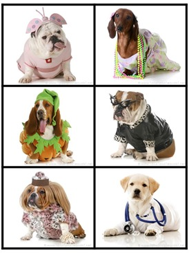 Silly Dogs in Costumes Story Starter Printables