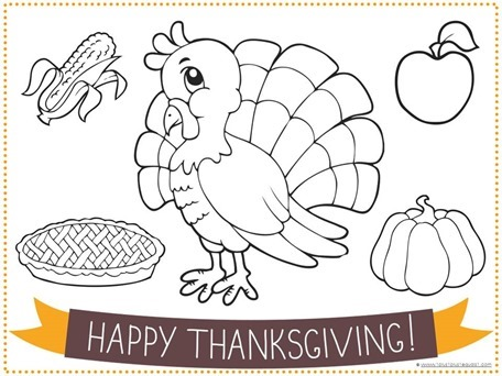 Printable Thanksgiving Placemat for Kids