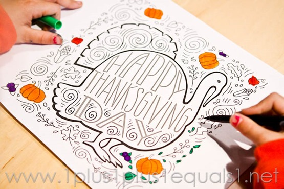 Thanksgiving Doodle Coloring Page -0898