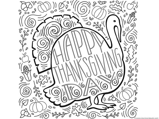 Thanksgiving Doodle Coloring Pages