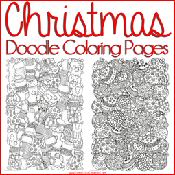 Christmas Doodle Coloring Pages FB[3]