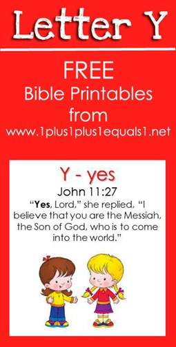 RLRS Letter Y John 11 Bible Verse Printables