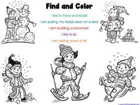 Find and Color Winter