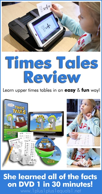 Times Tales DVD Review Make Multiplication Fun