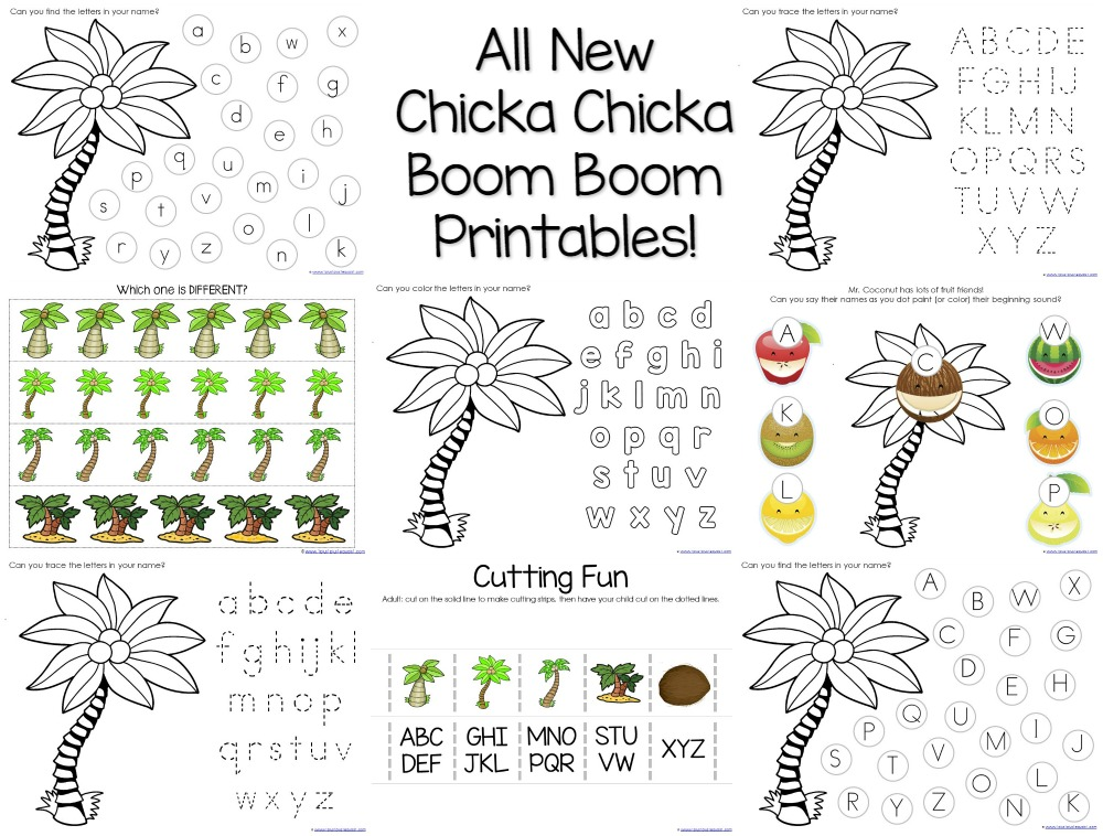 picture relating to Chicka Chicka Boom Boom Printable referred to as Chicka Chicka Growth Increase Concept Printables