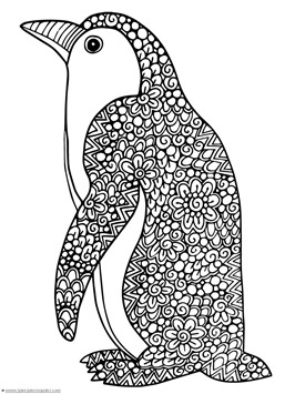 Penguin Doodle Coloring Pages 1 1 1 1