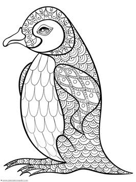 Penguin Doodle Coloring (4)