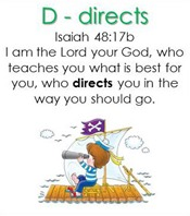 Raising Lil' Rock Stars Letter D for Directs Isaiah 48