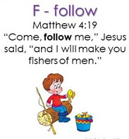 Raising Lil' Rock Stars Letter F is for Follow Matthew 4