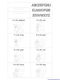 Accordion Book Printables ALPHABET