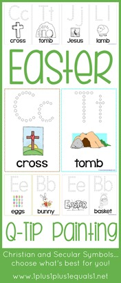 Easter Q-Tip Painting Printables