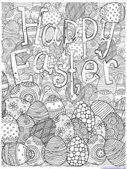 Happy Easter Coloring