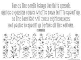 Spring Bible Verse Coloring Pages - 9+9+9=9
