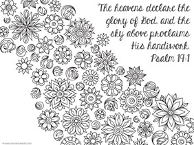 Spring Bible Verse Coloring Pages - 1+1+1=1