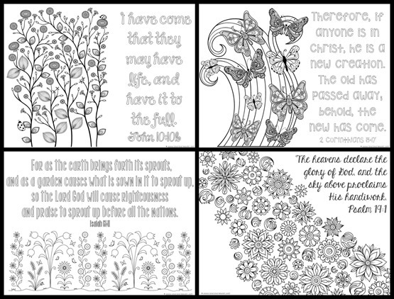 Spring Bible Verse Coloring